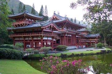 Le temple phénix vu de l'extérieur