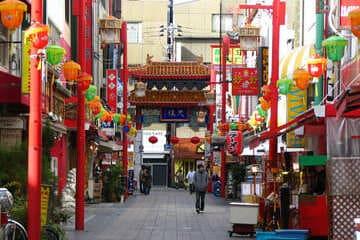 Le quartier chinois de la ville de Kobe