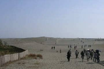 La grande étendue de sable au sud de Hamamatsu