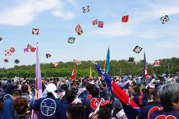 Un festival de cerfs-volants à Hamamatsu