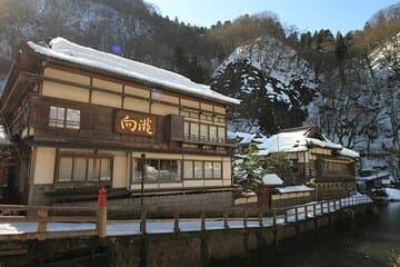 La bâtisse où l'on déguste du bon saké