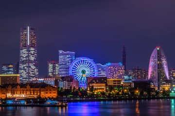 Yokohama et ses illuminations durant la nuit