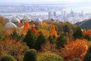 Panorama sur la ville de Kobe depuis son beau jardin Nunobiki