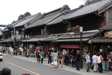 Une des ruelles commerçantes traditionnelles de Saitama