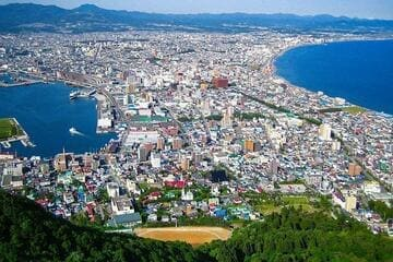 Panorama sur la ville d'Hakodate