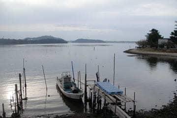 Photo montrant l'immensité du lac Hamana