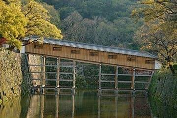 Les ponts couverts du château de Wakayama