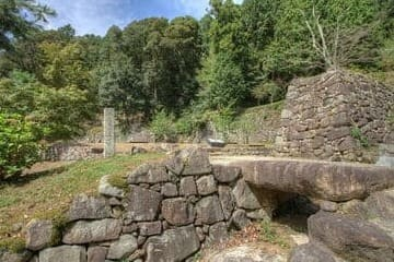 Les ruines de la cité de Omihachiman