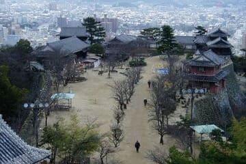 Panorama de la ville de Matsuyama depuis son château