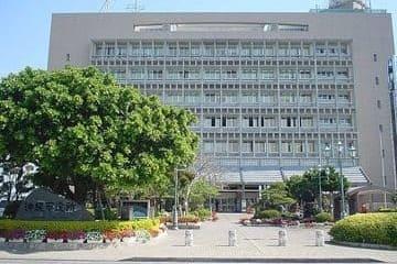Un des bâtiments imposant de la ville d'Okinawa