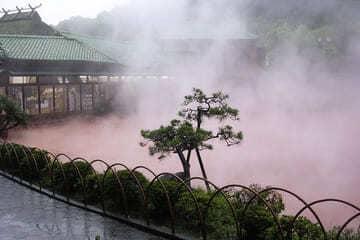 Un onsen fumant comme les enfers à Beppu