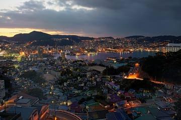 Panorama de la ville de Nagasaki depuis le mont Inasa
