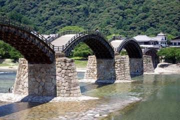 Le pont atypique de Iwakuni