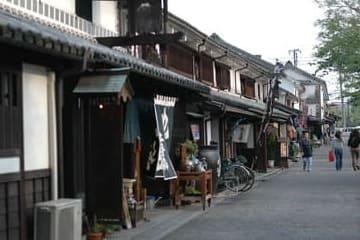 Une des rues commerçantes de Kurashiki
