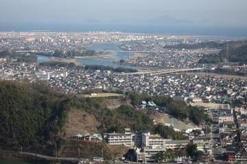 Panorama de Iwakuni depuis son château