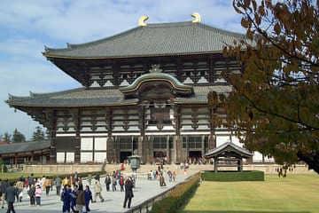 L'énorme temple symbolique de la ville de Nara