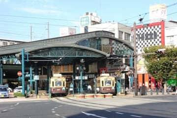Photo de la petite gare du quartier Yokogawa à Hiroshima