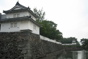 Photo d'une palissade du château de Funai Oita