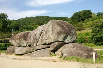 Photo d'un des tombeaux de Asuka