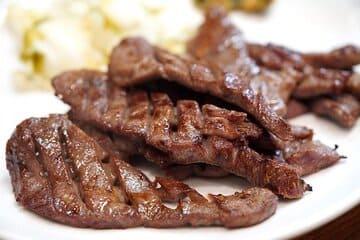 Photo des fameuses langues de bœuf grillés japnaises