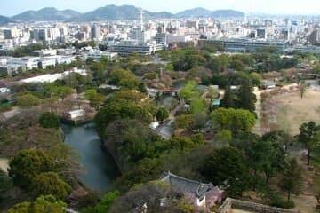 L'espace vert du château de Himeji