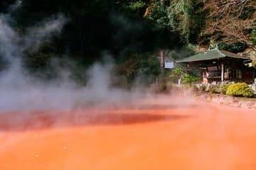 Photo de l'enfer à l'eau rouge de Beppu