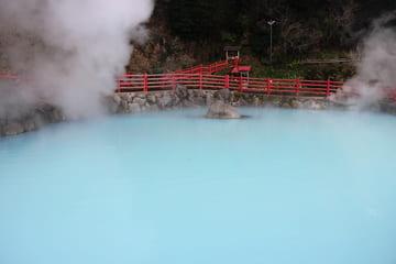 La source chaude surnommé le chaudron à Beppu