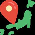 logo de la carte du Japon avec un marqueur dessus