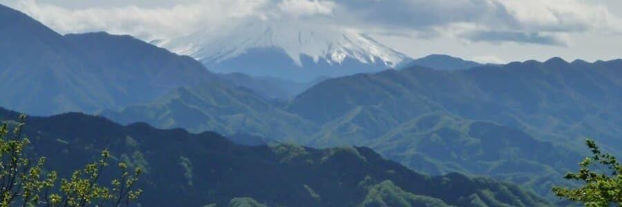 Vu sur le mont Fuji depuis le mont Takao
